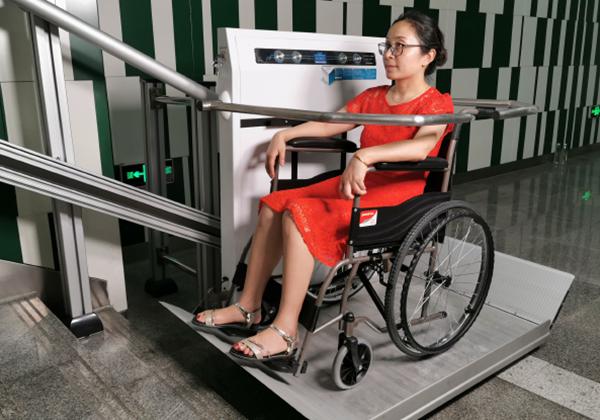直线齿条轮椅升降平台